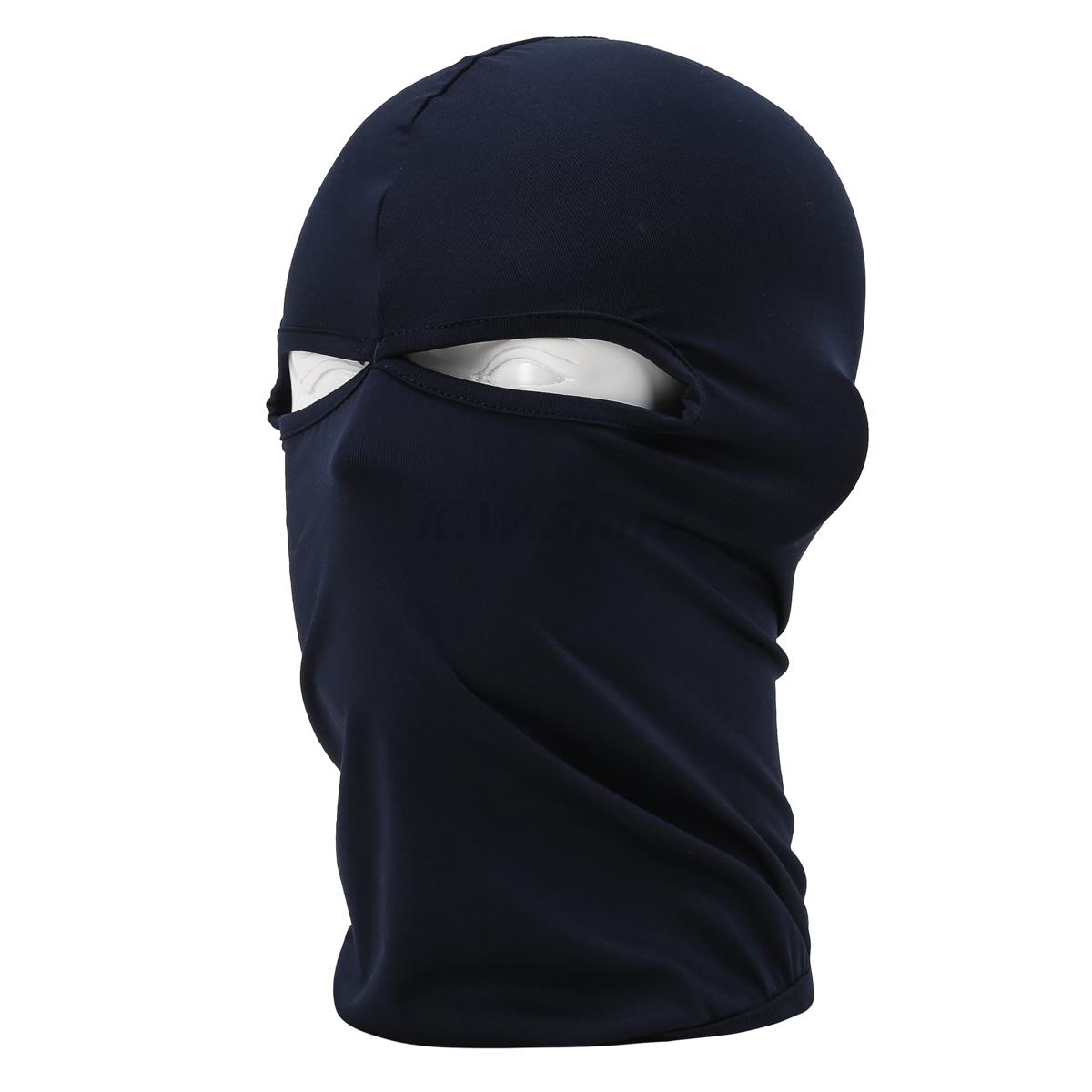 2017 New 2 Hole Balaclava Hat Hunting Motorcycle Cycling Headwear Military Tactical CS War Game Face Full Ski Mask Dark Blue airsoft adults cs field game skeleton warrior skull paintball mask