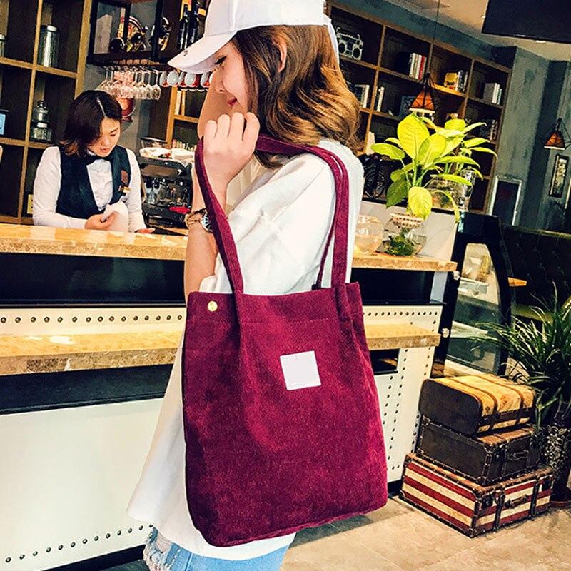 Women Shoulder Bags Corduroy Handbag Large Tote Purse Travel Messenger Hobo Bag Best Sale-WTWomen Shoulder Bags Corduroy Handbag Large Tote Purse Travel Messenger Hobo Bag Best Sale-WT