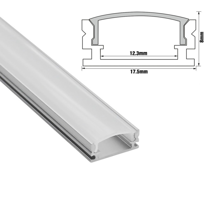 0 5m 1m led strip aluminum profile for 5050 5630 led rigid bar light aluminum extrusion with cover corner extend connector in LED Strips from Lights Lighting