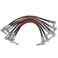 Yibuy 10pcs 11 8 Inch Length Multicolor Pure Copper Double Elbow Right Angle Electric Guitar Effect