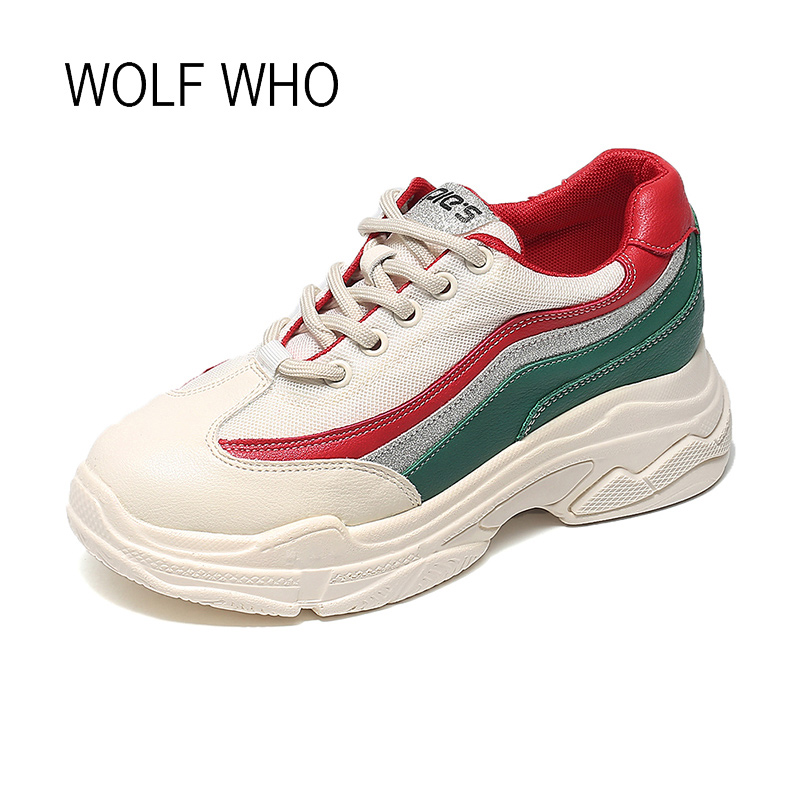 latest design the best dirt cheap WOLF WHO 2018 Fashion Platform Women Sneakers Tenis Feminino ...