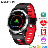 Smart Watch R15 Men Android IOS Smartband Heart Rate Fitness Bracelet Sleep Monitor Fitness Tracker Color Screen Round Wristband