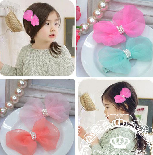 Baby Girls Bow Hair Clips Kids Hairpins Bows Hairpins Hair Clip Women Girl Accessories 10pcs lot korea style cute small hair clips lace bow tie pearl hairpins bb clip girls kids hair styling tools