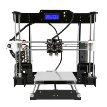 High Precision Dual Extruder Prusa i3 3D Printers Kit Anet A8M imprimante 3d DIY Desktop LCD2004 3D Printer with PLA Filament 2015 newest createbot dual extruder mini 3d printer with extremely expedite touchscreen and one abs pla filament for free