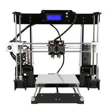 High Precision Dual Extruder Prusa i3 3D Printers Kit Anet A8M imprimante 3d DIY Desktop LCD2004 3D Printer with PLA Filament