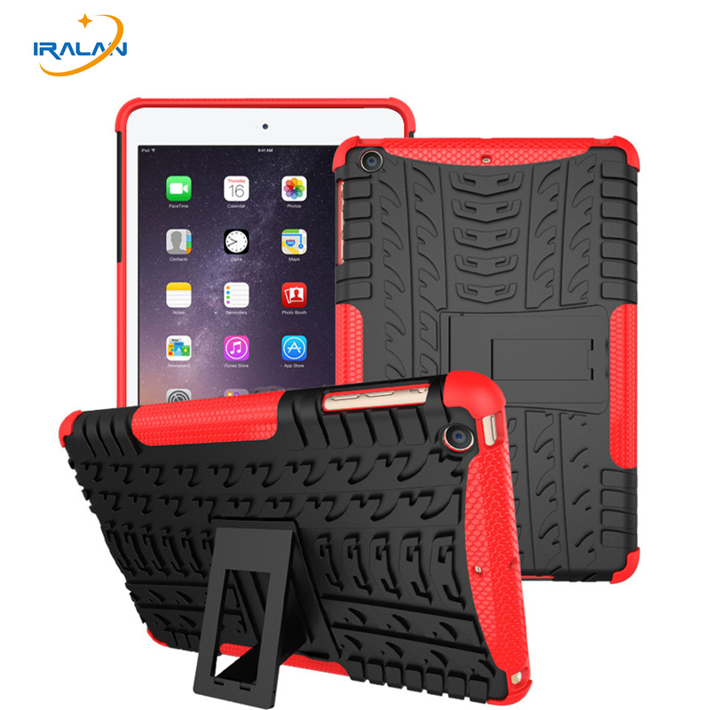 Best selling Armor Shockproof Waterproof Case For iPad Mini 123 Heavy Duty Hard Tablet TPU+PC Kickstand Cover Shell +Stylus+film