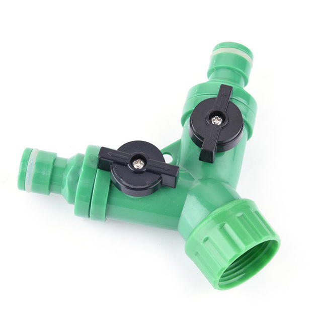 Plastic Water Hose Splitter Outdoor Faucet Sprinkler And Drip Systems Of  Tee Pipe Ball Valve Garden Water Hose Y Connector