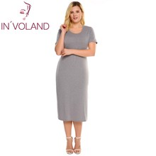 IN VOLAND Women Pencil font b Dress b font font b Plus b font font b