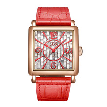 Business leather Band Women Jewelry Watch Ladies Quartz Dress wristwatches Simple Wave Dial Design relogio femininoHL650