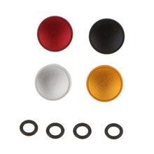 4 peças universal metal côncavo superfície da câmera côncavo macio botão de liberação do obturador apto para linhas padrão fujifilm 4 cores