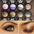 Nova Marca de Maquiagem À Prova D' Água Pigmento Brilho Sombra Paleta de 2 Cores de Ouro Metálico Cozido Única Sombra Em Pó Paleta