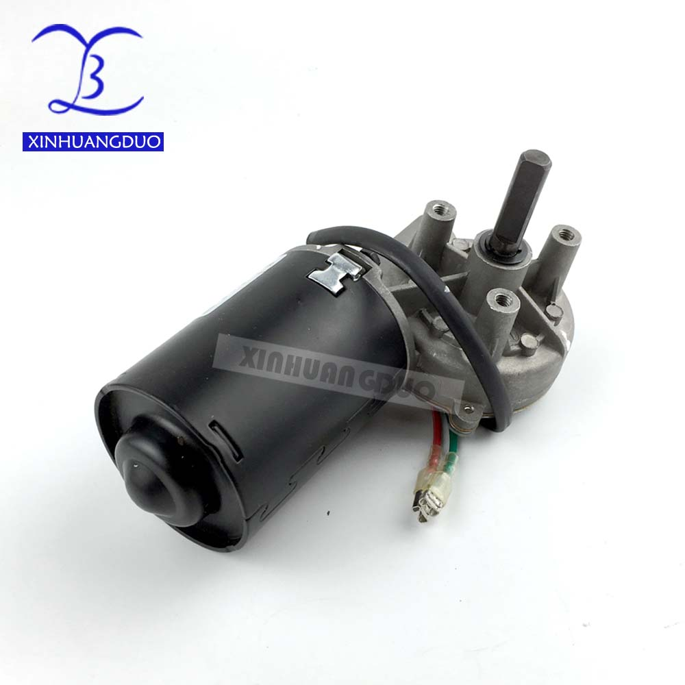 GW6280 DC 24V <font><b>30</b></font> <font><b>52</b></font> 100 rpm Electric Worm Gear Motor Right version Self-locking Garage door replacement Windshield wiper - right image