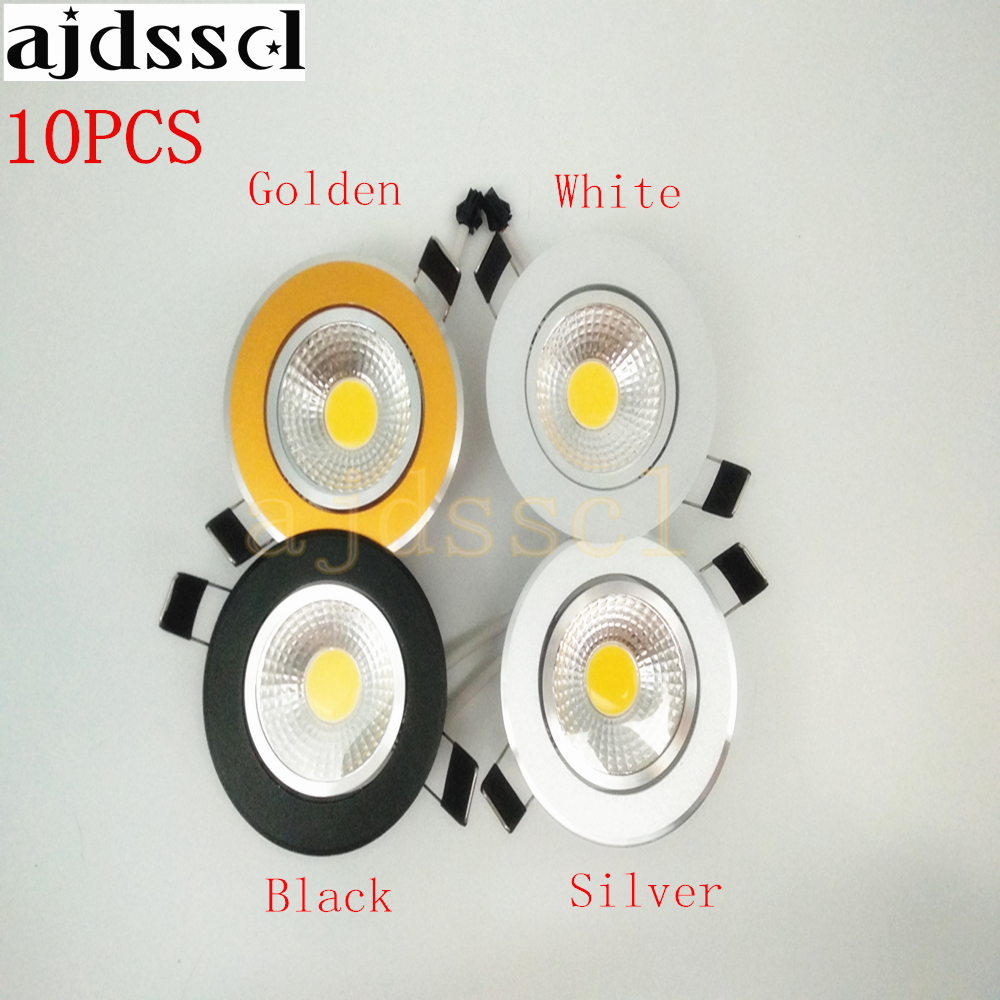 10pcs/lot Super Bright Dimmable <font><b>Led</b></font> downlight light COB Ceiling <font><b>Spot</b></font> Light 3w <font><b>5w</b></font> 7w 12w ceiling recessed Lights Indoor Lighting image