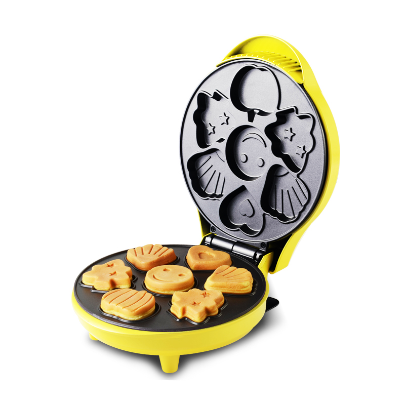 220V Multifunctional Electric Cake Maker Machine Plate Diameter 18.5cm Non-stick Automatic Electric Waffle Machine EU/AU/UK/US 110v 220v commercial electric round waffle cake machine non stick 16pcs muffin cake maker eu au uk us plug high quality