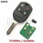 QCONTROL Remote Key 315MHz / 433MHz for Ford EDGE ESCAPE EXPEDITION EXPLORER FLEX FUSION MUSTAN TAURUS For Mazda Tribute