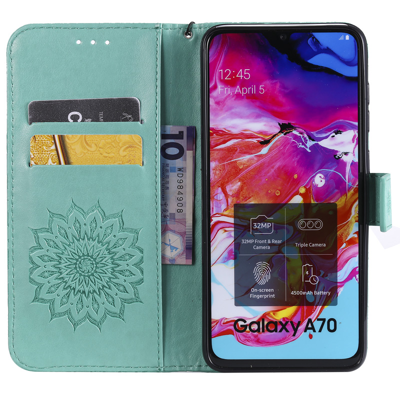 Sun Flower Wallet Case For Samsung Galaxy A20E A70 A50 A40 A30 A20 A10 Cover J4 J6 A6 A8 Plus A7 A9 2018 Flip Leather Book Cases in Wallet Cases from Cellphones Telecommunications
