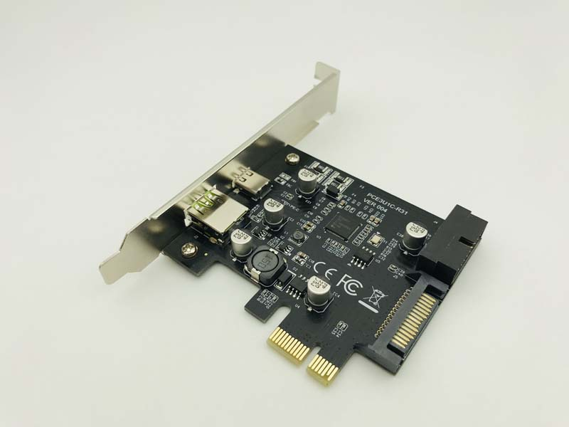 Add On Cards USB Expansion Card PCIE Sata/Card PCIE USB Adapter <font><b>USB3</b></font> PCIE USB 3.1 <font><b>PCI</b></font>-E USB-C 2.4A Computer Expansion Cards New image