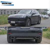 Stainless steel Front+Rear Bumper Skid Protector Guard Plate For 2018 Cayenne
