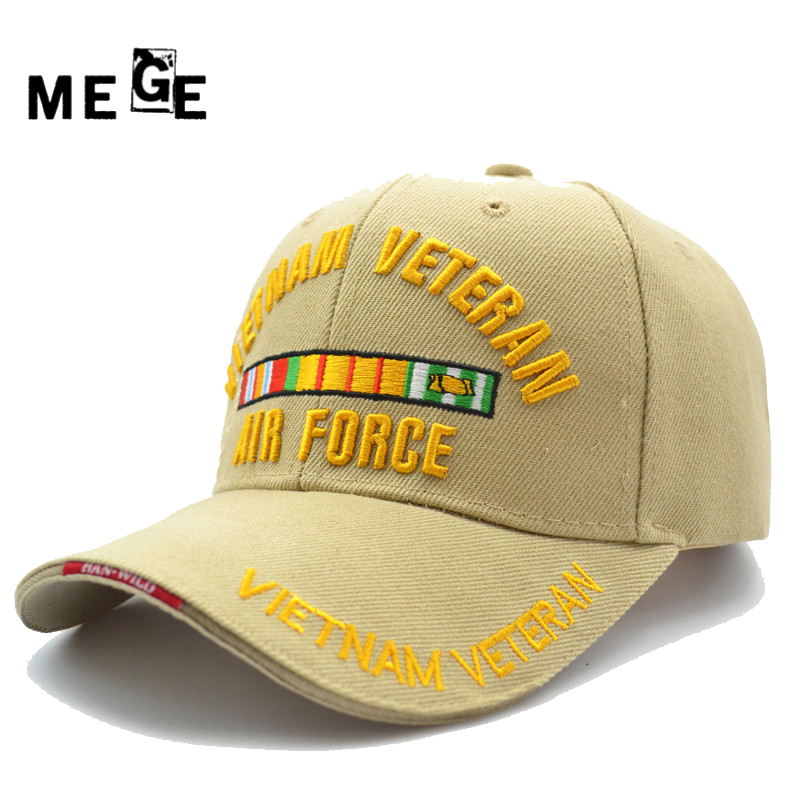 MEGE VIETNAM VETERAN cap for Fishing, Summer Chapeu masculino pesca, Male cap Adjustable size, Hats for Men