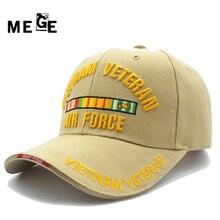 MEGE VIETNAM VETERAN cap for Fishing, Summer Chapeu masculino pesca, Male cap Adjustable size, Hats for Men