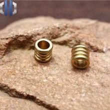 Pure Brass Retro EDC Barrel Beads Separated Pendant Knife Umbrella DIY Handmade Paracord Pendants
