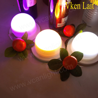 50PCS/lot LED Furniture Lighting Battery Rechargeable Led Bulb RGB Remote Control Waterproof IP65 Swimming Pool Lights