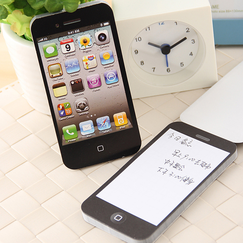 1 PCS Creative Cute Arrival Sticky Post Note Paper Cell Phone Shaped Memo Pad Gift Notebook Stationery Office School Supplies