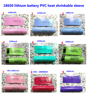 Image 1 - 100ピース/ロット18650リチウム電池パッケージスリーブ、収縮スリーブ、バッテリーカバー、pvcシース熱収縮フィルム3400mah