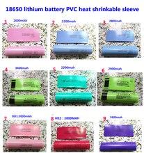 100 pcs/lot 18650 lithium batterie paquet manchon, manchon rétractable, couvercle de batterie, PVC gaine film thermorétractable 3400MAH