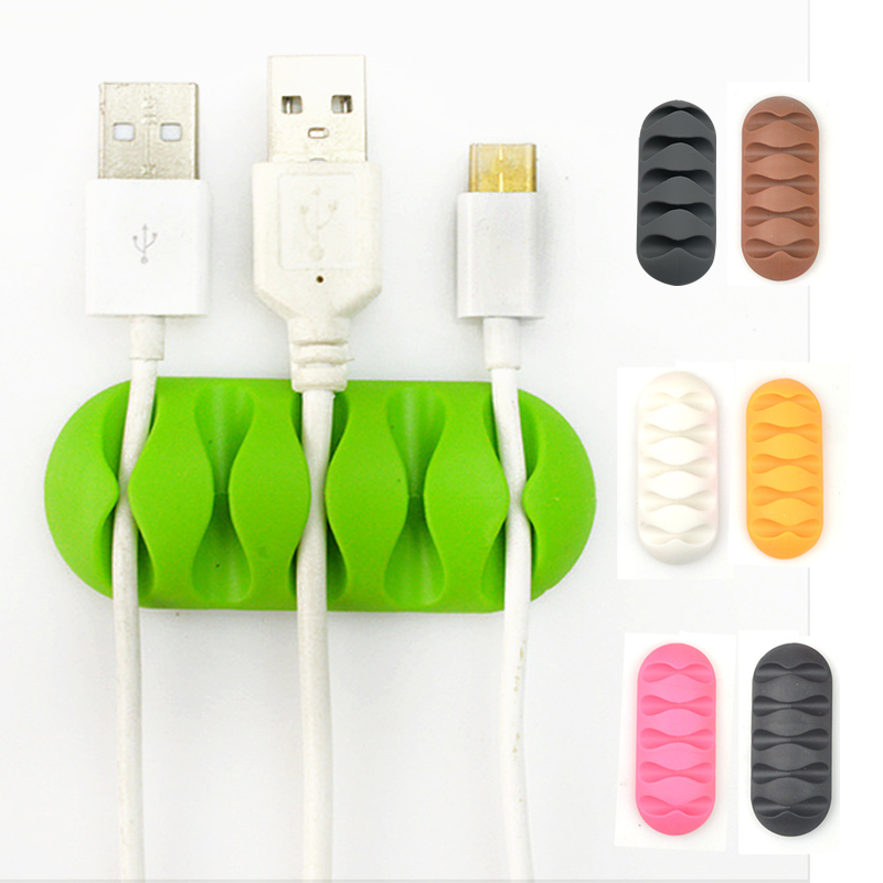 2PCS Cable Clips Tidy Self-Adhesive Desk Cord Management Organizer Wire Holder