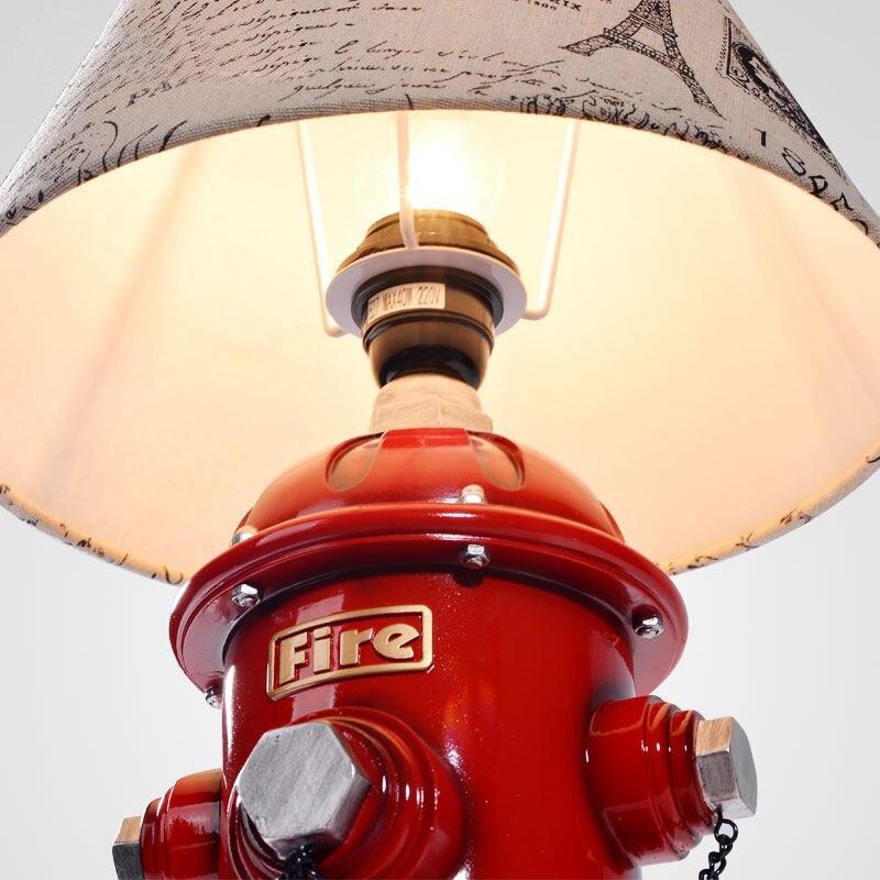 Candeeiro de mesa quarto lâmpada de cabeceira lâmpada decorativa hidrante criativo de ZA9921 Americano sala de estar lâmpadas de mesa lighing lâmpada vermelha - 3