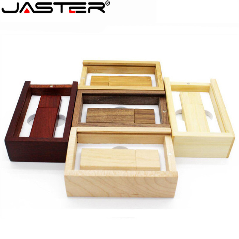 JASTER (over 1 Pcs Free LOGO) Wooden Usb Flash Drive Memory Stick Pendrive 8gb 16gb 32gb 64gb Photography Wedding Gift