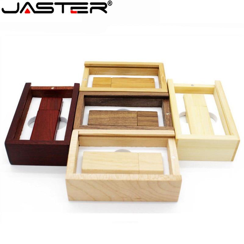 JASTER (over 1 Pcs Free LOGO) Wooden Usb Flash Drive Memory Stick Pendrive 8gb 16gb 32gb 64gb Photography Wedding Gift