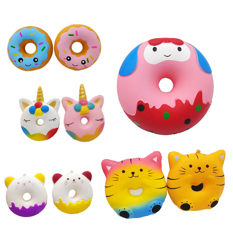 Jumbo Squishy Children Slow Rising Antistress Toy Unicorn Cats Donuts Cake Squishies Stress Relief Toy Funny Kids Toys