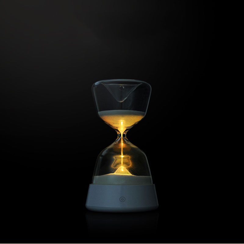 Romantic Colorful Hourglass Timer Night Light Bedside Sleeping Timer Desk Touchable Lamp Color Changed Decoration Sandglass Gift