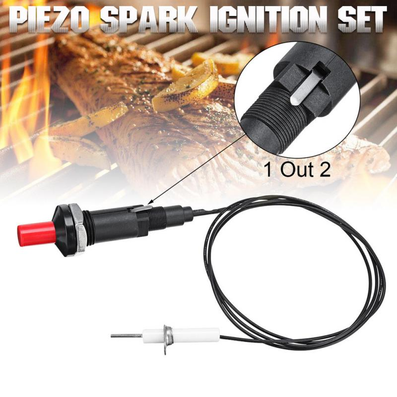 GAS BURNER PILOT BATTERY ELECTRIC SPARK IGNITOR PRESS BUTTON 18MM HOLE