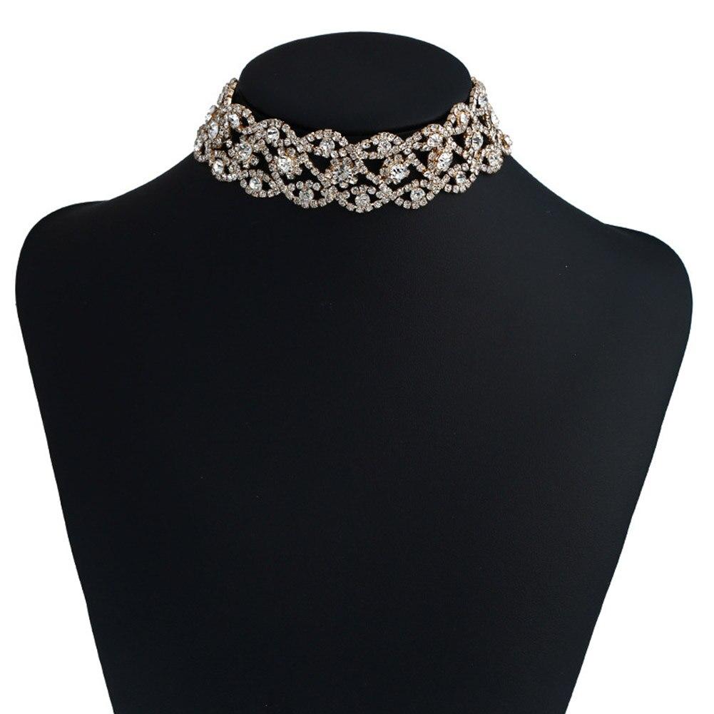 Fashion Women/'s Bling Rhinestone Choker Crystal Diamond Necklace Jewelry Hot