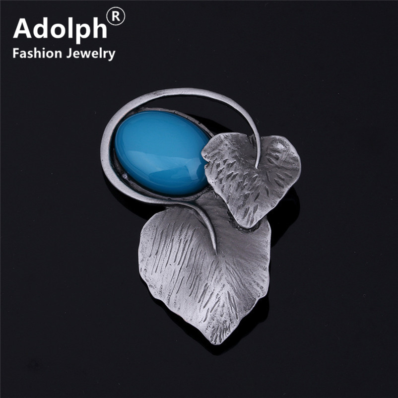 ADOLPH Star Jewelry Leaf Stone Creative Brooch Pins Woman Clothers Bohemian Luxury Dress Bride Broochs Fashion Accessories New