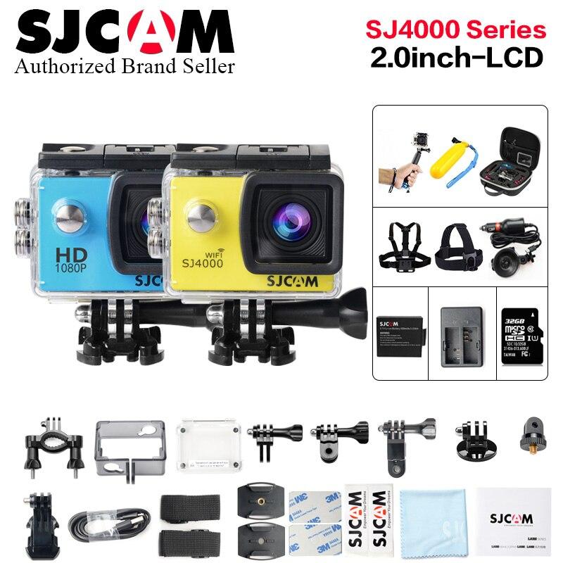 все цены на SJCAM SJ4000 Action Camera SJ4000 WiFi Sports DV Diving 30m Waterproof 2.0 inch LCD Screen Full HD 1080P Original SJ 4000 Cam