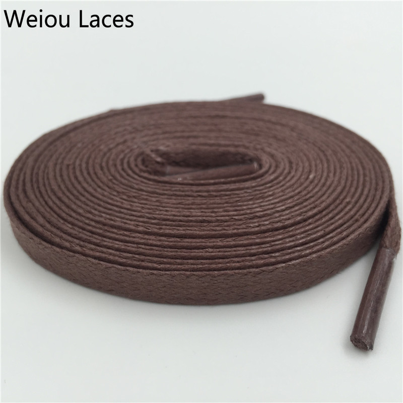 Weiou Quality Flat Waxed Shoelace 8mm Width Unisex Shoestrings Cord 100% Cotton Shoe Lace For Leather Shoes Boots Free Shipping ручной пылесос handstick dyson v6 cord free extra sv03 350вт желтый