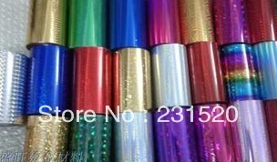 Hot foil 6 rolls. Color: silver, black, gold, red, blue, green , purple optional. Size: 8cmx120M