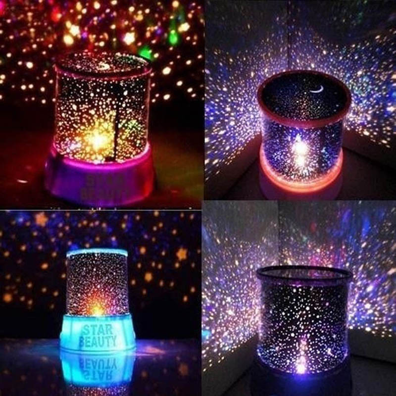 Led Night Lamps Romantic Colorful Star Master Sky Universal Lamp Cosmos Projector Light Novelty Lighting Gift Kid Chidren AA