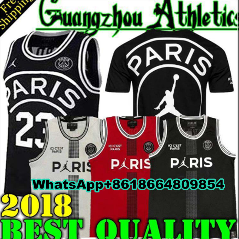 5321d7b89 New 2018 2019 PSG Paris Jersey 23 Michael JD 10 NEYMAY JR 7 MBAPPE Paris  Basketball Jerseys PSG X AJ Basketball Jersey