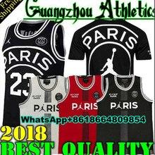 d01c4290c50 New 2018 2019 PSG Paris Jersey 23 Michael JD 10 NEYMAY JR 7 MBAPPE Paris  Basketball