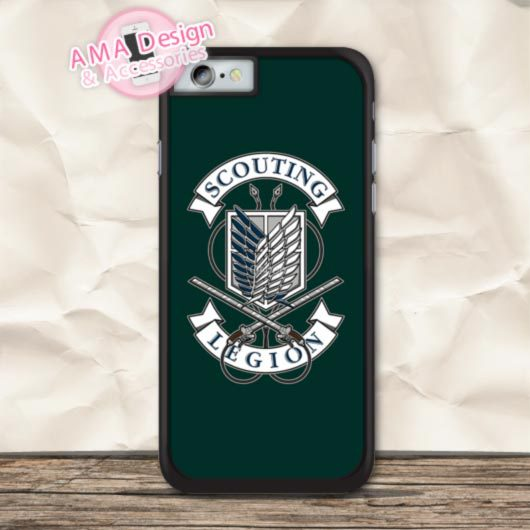 Classic Attack On Titan Cover Phone Case For iPhone X 8 7 6 6s Plus 5 5s SE 5c 4 4s For iPod Touch
