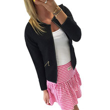 Shocking Show Women Long Sleeve Lattice Tartan Cardigan Top Coat Jacket Outwear