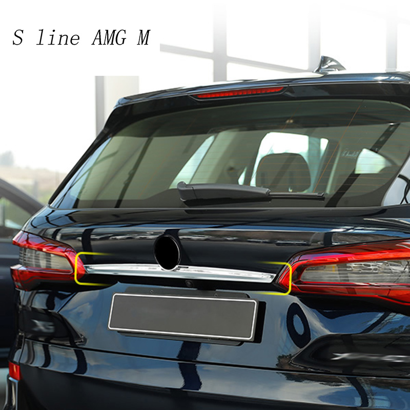 Car styling for BMW X5 G05 2019 Rear Tail Trunk Logo Lid Molding decoration Cover Sitckers Trim stainless steel Auto Accessories