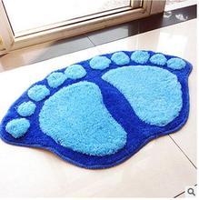 Carpet living room bedroom sofa coffee table feet mattress pad bath bathroom cute big mat fashionable anti-skid absorbent blue