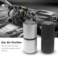 Mini Portable Car Air Purifier Vehicle Fresh Air Anion Ionic Purifier Oxygen Bar Ozone Ionizer Cleaner With Dual USB Ports