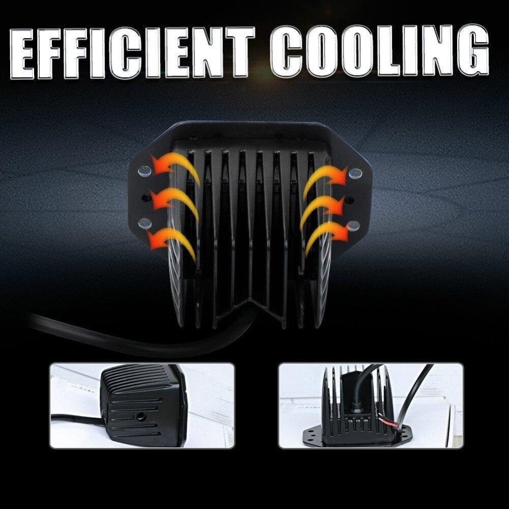 honzdda 1pc flush mount led car work light 18w spot beam waterproof